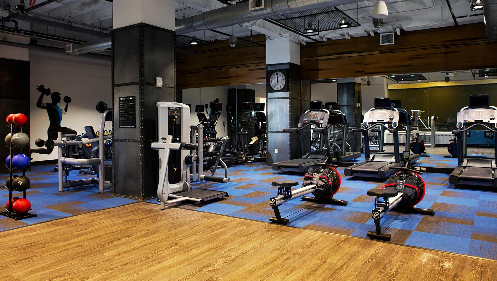 Fitness center kimpton cardinal hotel a winston salem hotel for Equipement hotel