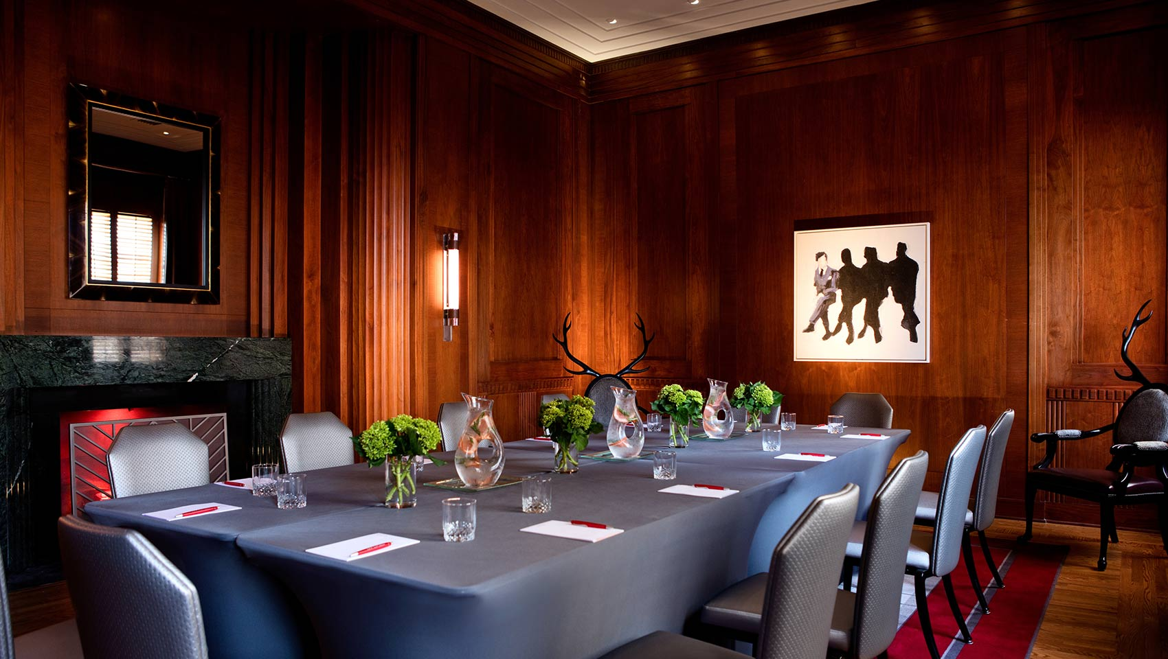 Kimpton Cardinal's Gingham conference room