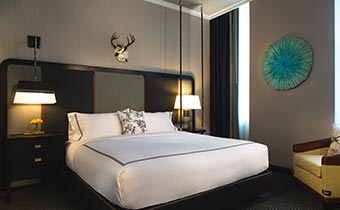 accessible guest rooms at Kimpton Cardinal Hotel